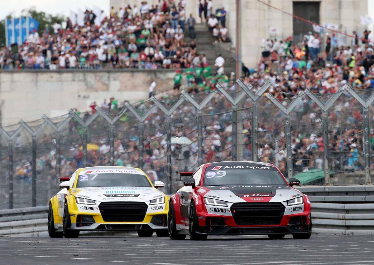 2016 Audi Sport TT Cup Norisring - #99, Lucas di Grassi(right) and #27, Dennis Marschall.