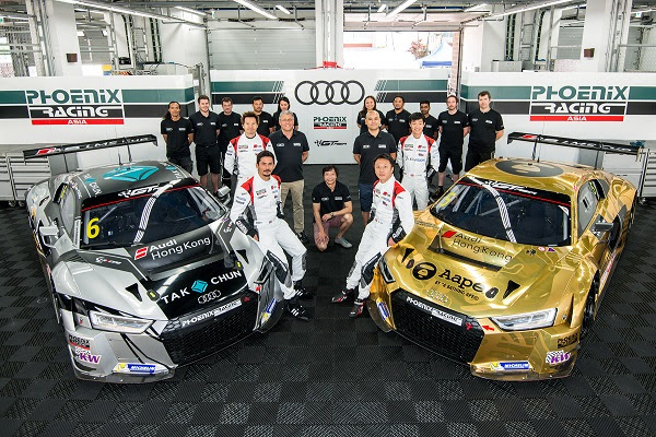 Audi R8 LMS Cup drivers compete in GT Asia Series