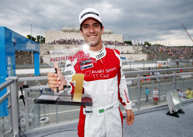 Lucas di Grassi won with his wealth of experience.
