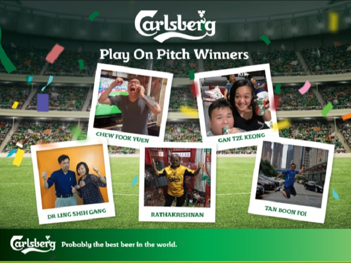 The winners of Carlsberg's Play on Pitch contest