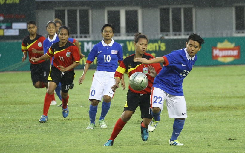 Timor (red) vs Malaysia (blue)