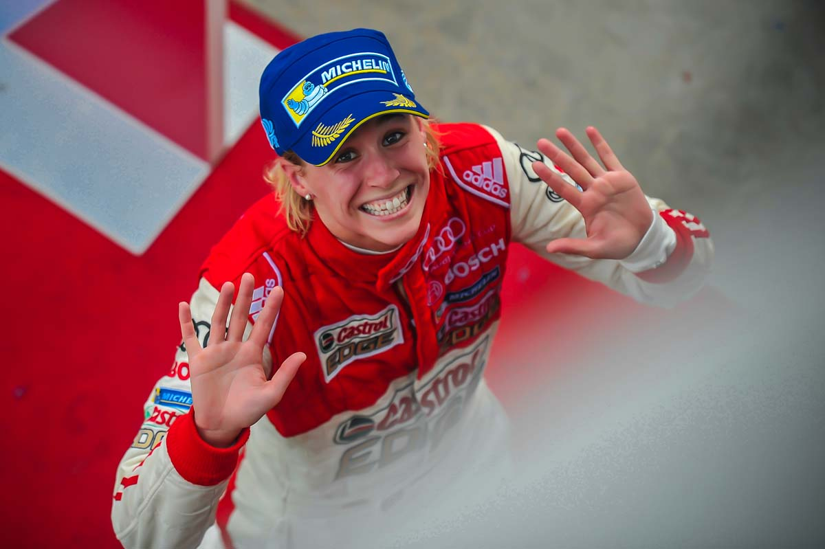 """""""Finishing on the podium was ok. At least I got some important points. It was fun watching the lead battle from behind.""""; Rahel Frey of Castrol Racing Team"""
