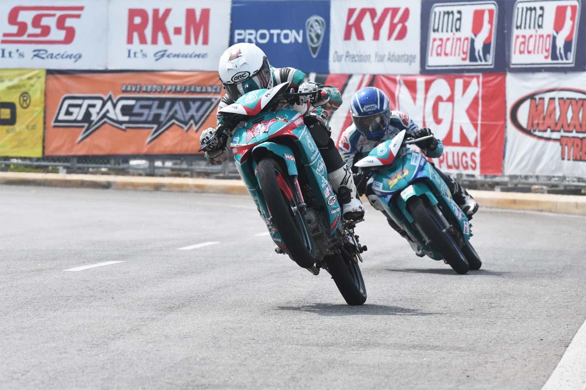 Kasma Daniel Kasmayuddin #27 of team PETRONAS Yamaha Maju Motor logged the fastest laptime.