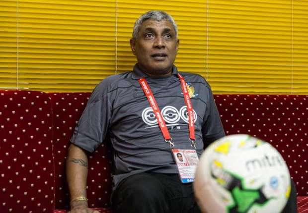 Hougang United coach K. Balaguraman