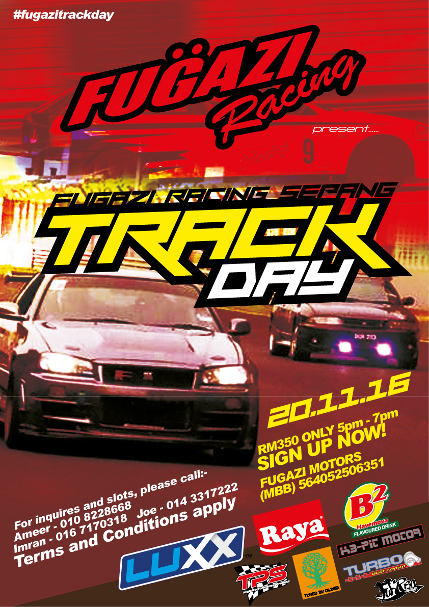 Watch out for #FugaziTrackDay on this 20 November 2016!