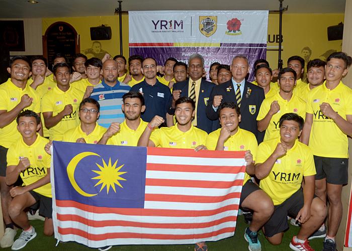 Barisan pemain pemain yang mewakili negara di Kejohanan Ragbi Asia Bawah 19 tahun 2016(Top Division) yang akan diadakan di Stadium Kompleks Sukan UPM Serdang. Foto - Sukandaily