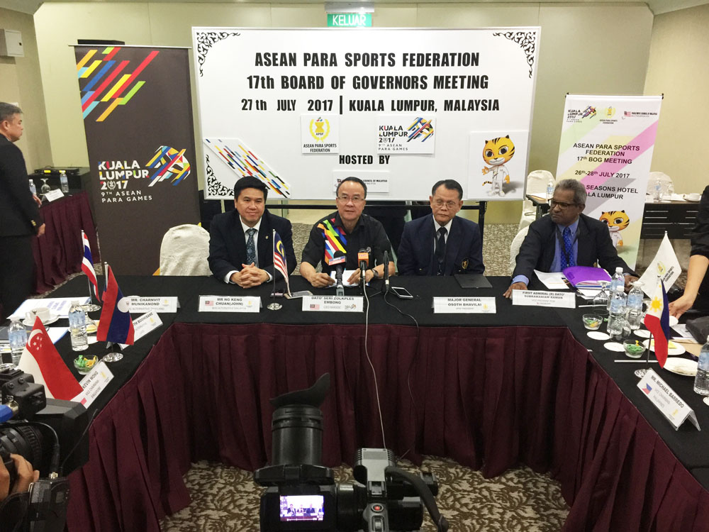 ASEAN Para Sports Federation Meeting 2017 - 17th Board of Governors Meeting