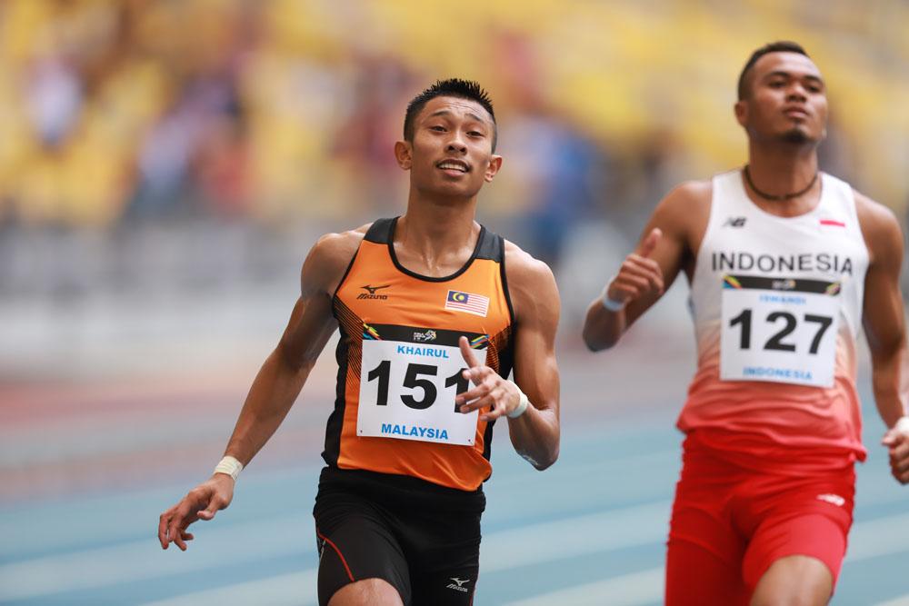 29th SEA Games KL2017 Olahraga Athletics 100m - Khairul Hafiz Jantan